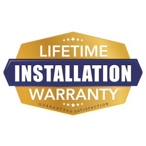 Installation - Lifetime warranty