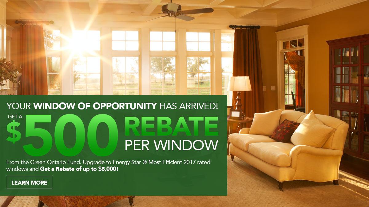 $500 Rebate Per Window